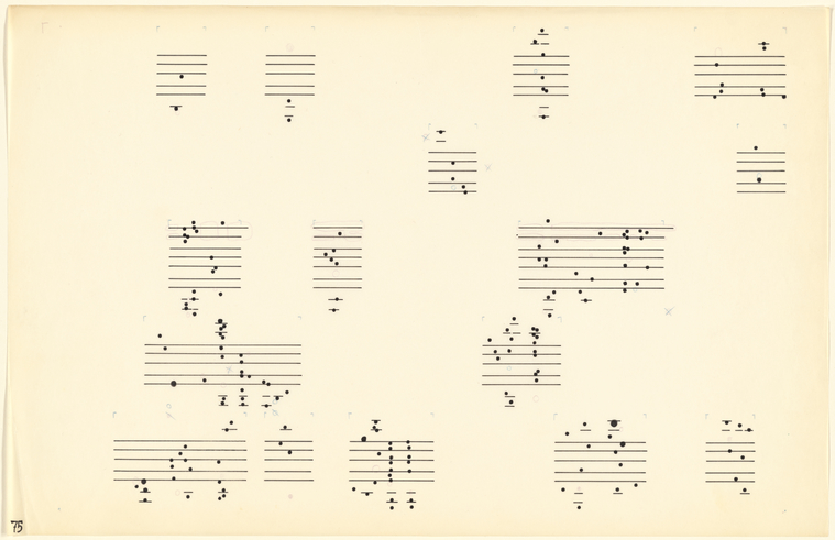 Sketches for Atlas eclipticalis by John Cage